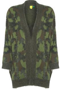 Casaco Feminino Tricot Camuflado - Verde