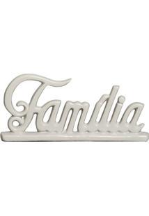Escultura Decorativa Família Gelo 12,5X27,5 Cm