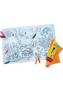 Quadro Kits For Kids Mágico Para Pintura - Fundo Do Mar - Branco
