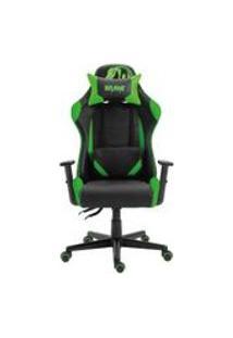 Cadeira Gamer Profissional Snake Krait Reclinavel Giratoria Preta E Verde B88