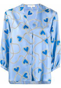 Chinti And Parker Blusa Com Estampa De Coração - Azul