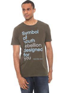 Camiseta Calvin Klein Jeans Symbol Of Youth Verde