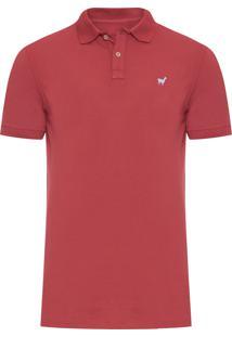 Polo Masculina Lhama Stretch - Vermelho