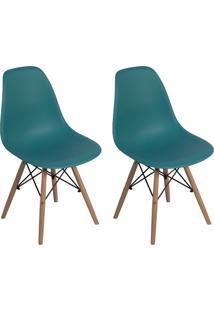 Cadeira E Banco De Jantar Impã©Rio Brazil Charles Eames Eiffel - Azul/Incolor - Dafiti