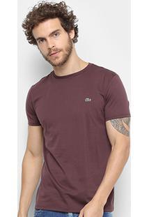Camiseta Lacoste Básica Jersey Masculina - Masculino-Roxo