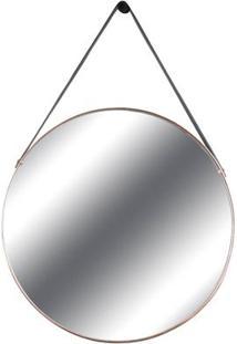Espelho Redis Moldura Banhada Cor Rose 60 Cm (Larg) - 43552 Sun House