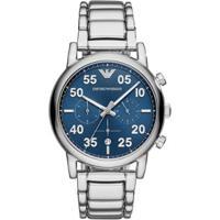 c13aaf0fd21 Relógio Empório Armani Masculino Luigi - Ar11132 1Kn Ar11132 1Kn - Masculino -Prata