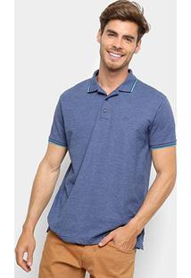 Camisa Polo Ellus Frisos Classic Masculina - Masculino-Marinho