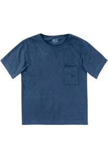 Blusa Hering Algodão Supima Feminina - Feminino-Azul