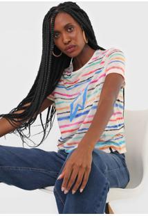 Camiseta Cantão Tie Dye Espectro Bege