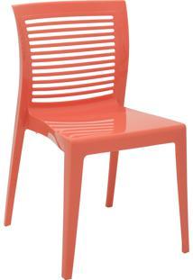 Cadeira Tramontina 92041160 Victória Com Encosto Vazado Rosa Coral