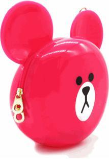 Bolsa Prorider Dark Face Pink Estampa De Urso Com Alça Longa - Bolsa204
