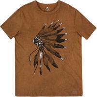 Camiseta Masculina Slim Em Malha De Algodão Com Técnica De Lavanderia  Estonada bb7d04b7fc8