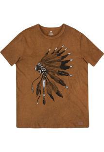... Camiseta Masculina Slim Em Malha De Algodão Com Técnica De Lavanderia  Estonada a2826c5d9e450