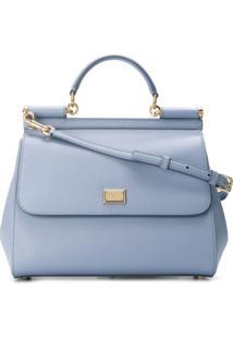 Dolce & Gabbana Bolsa Tote 'Sicily' Mini - Azul