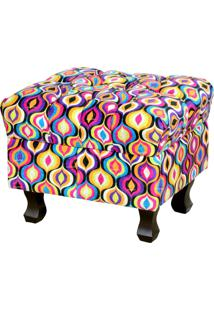 Puff Lyam Decor Paris Multicolorido