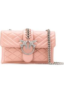 Pinko Bolsa Tiracolo Mini Love Soft - Rosa
