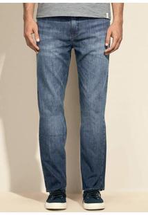 Calça Jeans Tradicional Masculina Com Lavação Escura