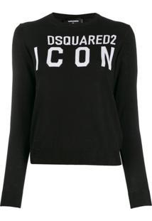 Dsquared2 Blusa Com Logo Icon - Preto
