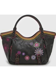 Bolsa Desigual Shoulder Bag Ada Preta