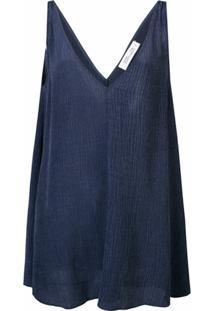 Dvf Diane Von Furstenberg Blusa Sem Mangas - Azul