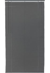 Persiana Horizontal Pvc Block 160X120Cm Cinza