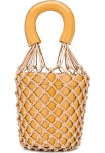 Staud Rope Knit Bucket Bag - Marrom