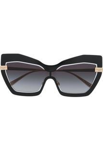 Dolce & Gabbana Eyewear Óculos De Sol Gatinho Dg2224 - Dourado