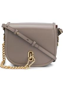 Marc Jacobs Bolsa Transversal The Saddle - Neutro