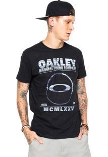 Camiseta Oakley Seeing Double Elipse Preta