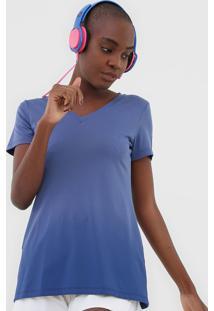 Camiseta Alto Giro Degrade Roxa - Roxo - Feminino - Dafiti