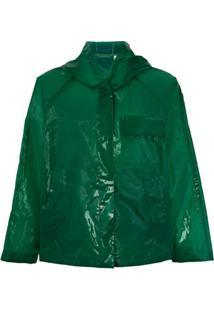Aspesi Jaqueta Translúcida - Verde