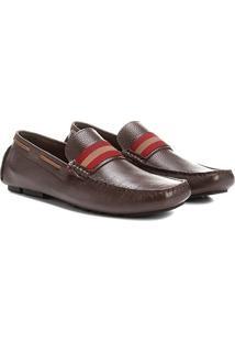 Mocassim Couro Shoestock Faixa Masculino - Masculino