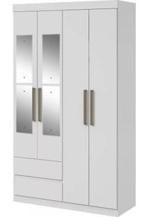 Guarda-Roupa Zeus Plus Com Espelho - 4 Portas - Branco