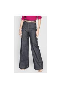 Calça Jeans Colcci Flare Pespontos Azul-Marinho