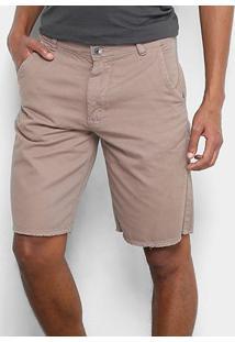 Bermuda Jeans Hang Loose Walk Trust Masculina - Masculino-Cáqui