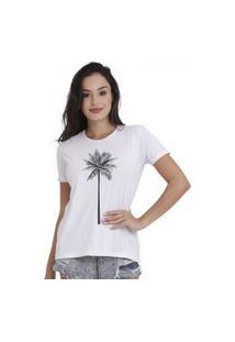 Camiseta Jay Jay Básica Coqueiro Branca Dtg