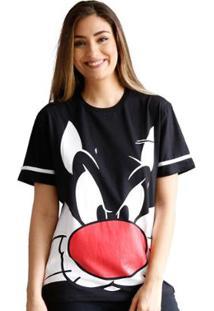Camiseta Bandup! Frajola Face Oficial - Feminino-Preto