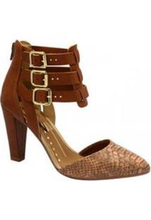 Sapato Scarpin Dakota Velivar - Feminino-Marrom