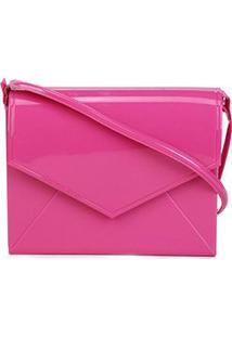Bolsa Petite Jolie Flap Express Transversal Feminina - Feminino-Pink