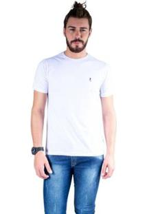Camiseta Mister Fish Gola Careca Basic Top Hat Masculina - Masculino-Branco