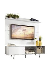 Rack Madesa Dubai E Painel Para Tv Até 65 Polegadas Com Pés Branco