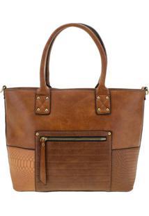 Bolsa Feminina Arara Dourada - T291 Caramelo