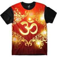 Camiseta Long Beach Ohm Ouro Florais Sublimada Masculina -  Masculino-Vermelho+Preto 995e96d8400