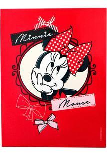 Quadro Mickey E Minnie Vermelho E Preto