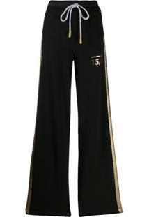 Versace Jeans Calça Esportiva Com Ajuste No Cós - Preto
