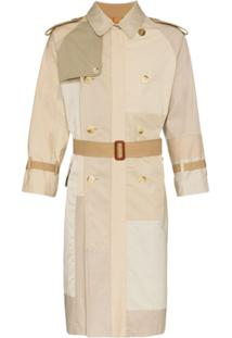Children Of The Discordance Trench Coat Com Recortes - Neutro