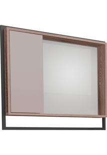 Espelheira Em Mdp Apoema 79,5X70Cm Nude E Tamarindo