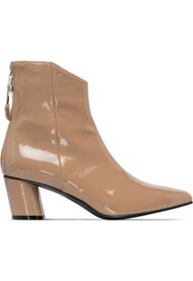 Reike Nen Ankle Boot Envernizada 60Mm - Neutro