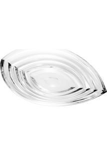 Prato Rojemac De Cristal Ecológico Para Bolo Wave Incolor - Kanui
